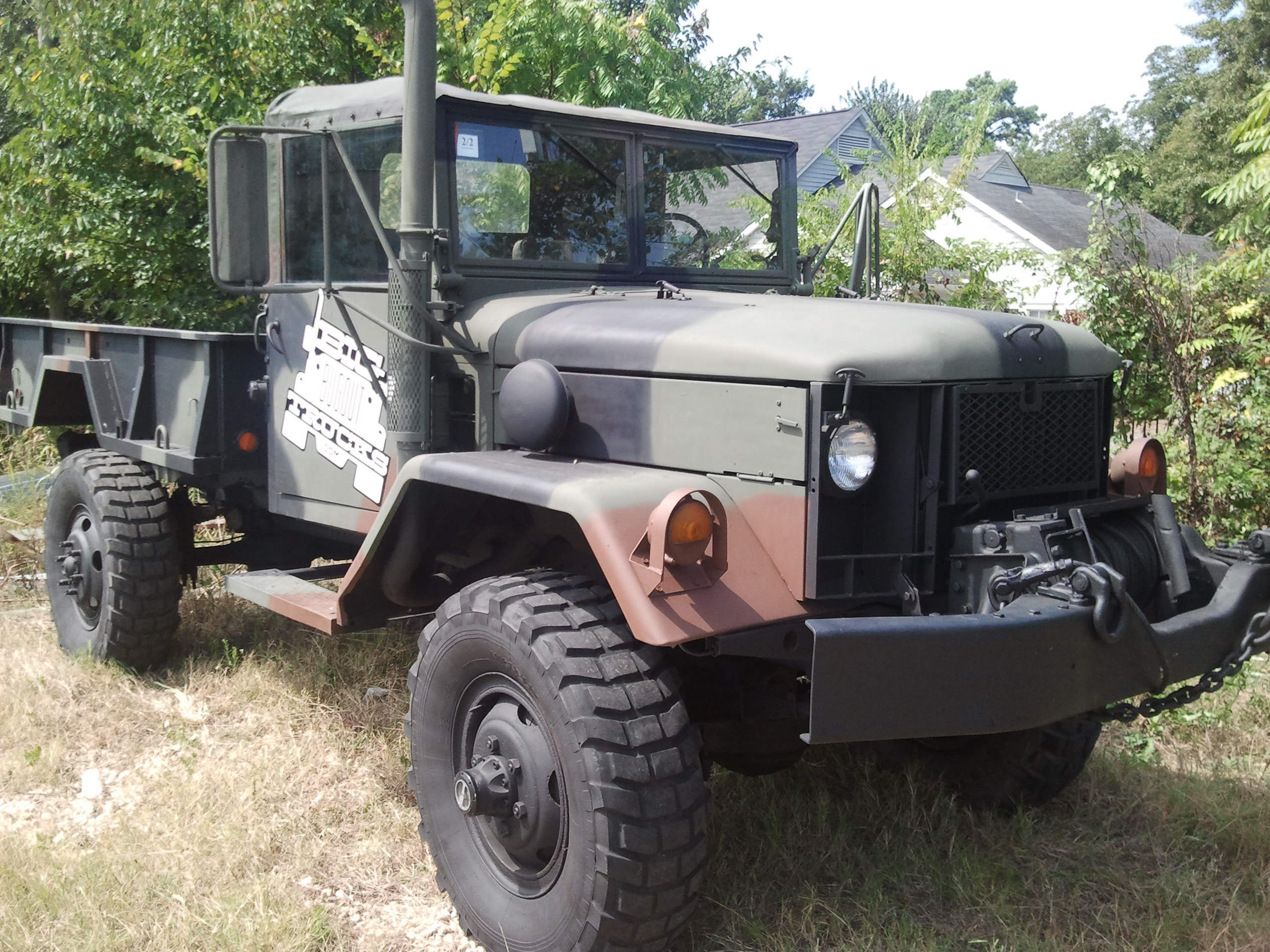 Bobbed m35a2 deuce and a 1 2 with winch multifuel heat