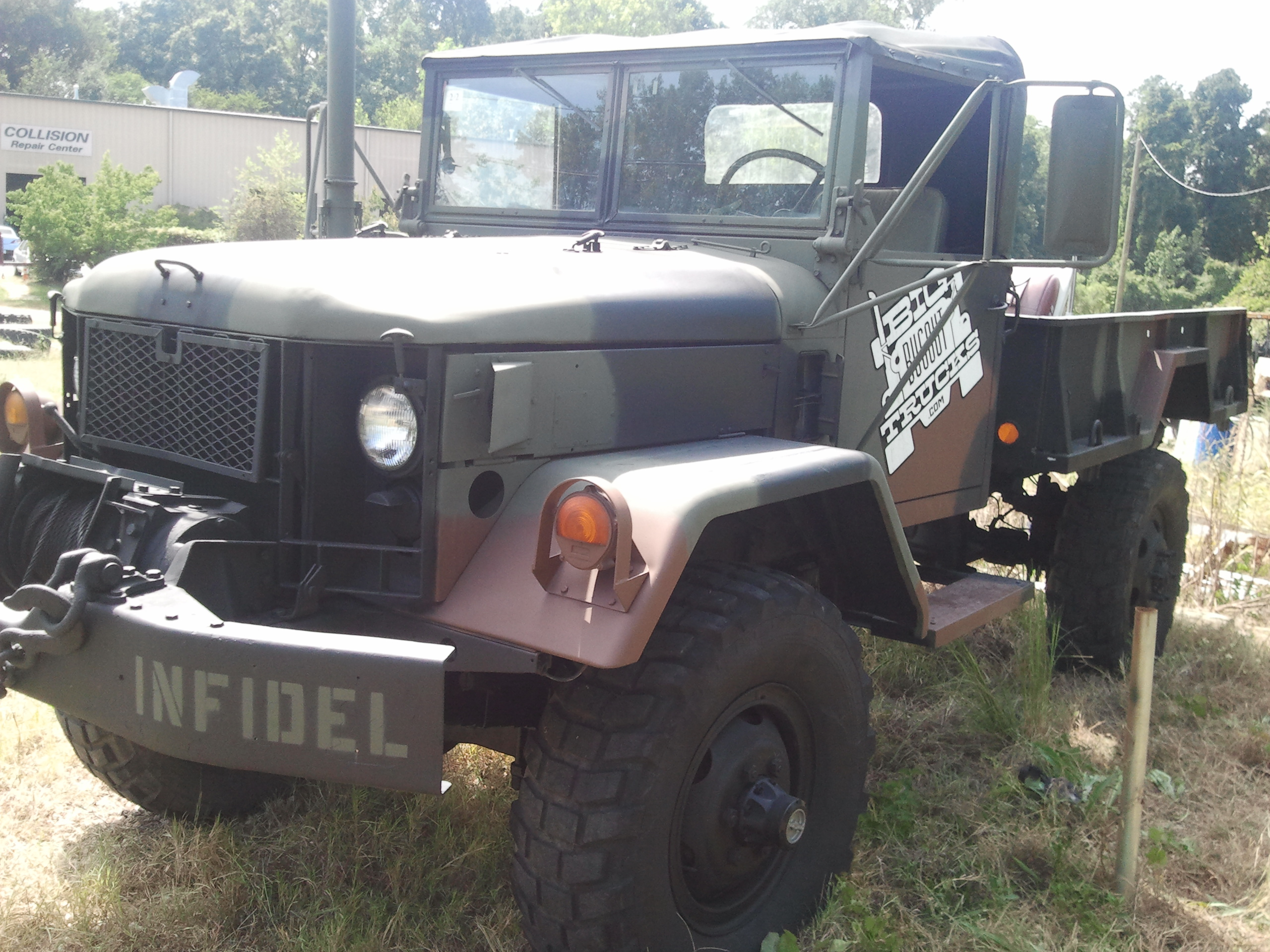 Bobbed M35a2 Deuce and a 1/2 with winch, multifuel, heat, soft top