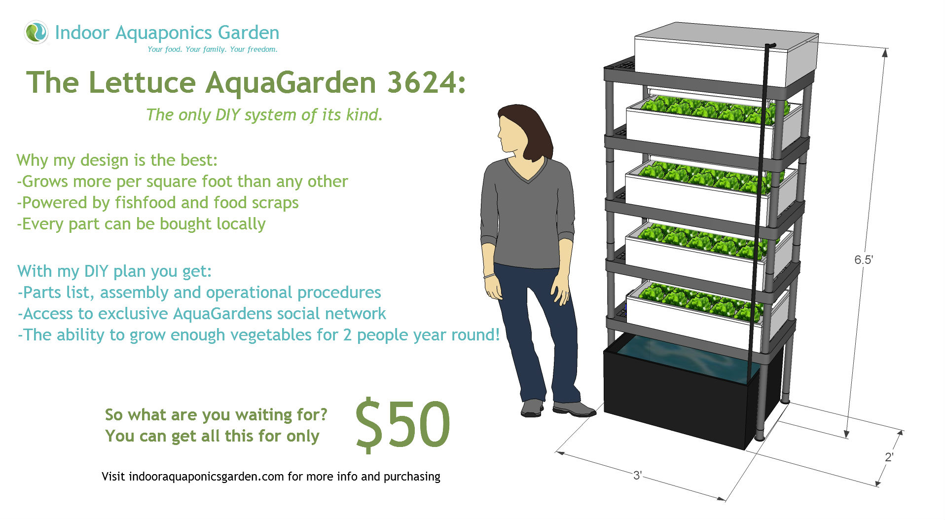 ... DIY Plans For Awesome Indoor Vertical Garden  Aquagarden3624flyer282kb