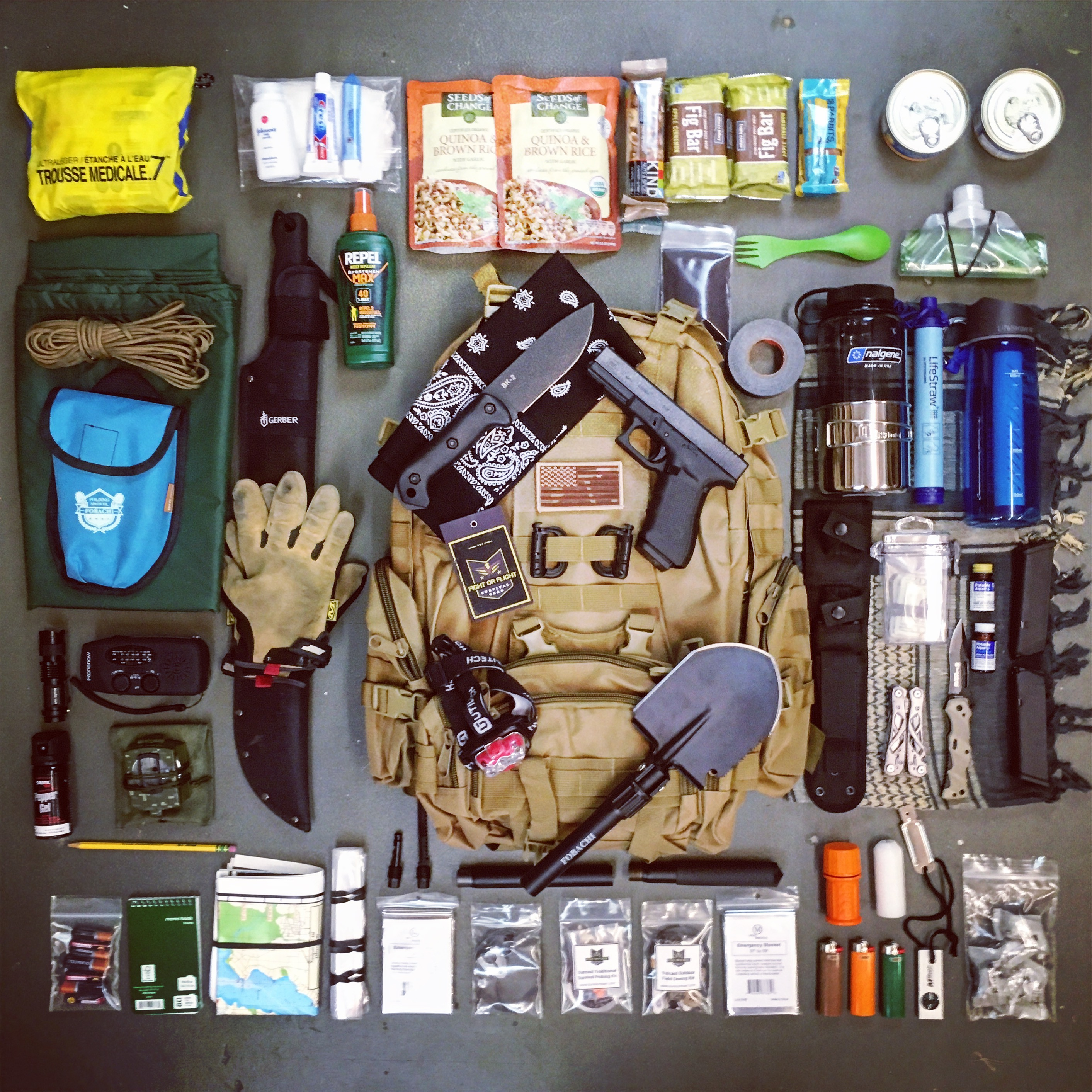 Bug Out Gear : Please post pictures of your bug out bag here page