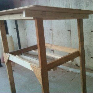 rabbit hutch frame complete