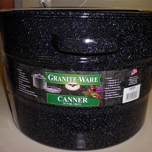 granite ware cooking pot with rack