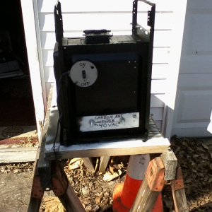 Homemade carbon arc furnace