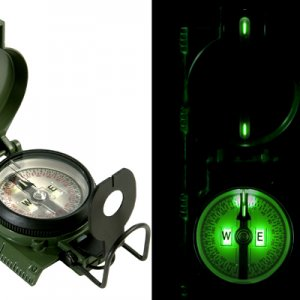 "This is what a mil-spec lensatic compass with Tritium illumination looks like.  No batteries and does not have to be ""charged"" with a flashl"