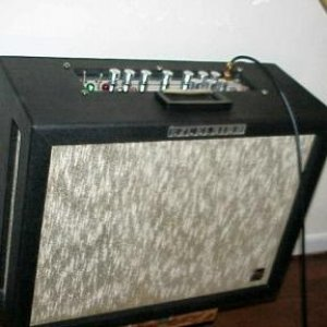 VERY RARE 1966 Excelsior! Trem, reverb, 1x15, 2x10, and a pair of elliptical 4x9 speakers which distribute the stereo trem/verb out each SIDE!